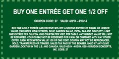Olive Garden Coupons | 2014 Printable Coupons & Coupon Codes