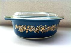 RARE 1965 Promotional Vintage Blue Pyrex Golden by VintgeYoYo