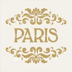 Stencils PARIS Stencil  8.5 Wide x 8 Tall by SuperiorStencils, $14.95