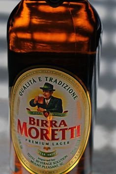"""""""Birra Moretti""""#beer #italy #lager #photography // Grazie Bill Owen for sharing this photo!"""