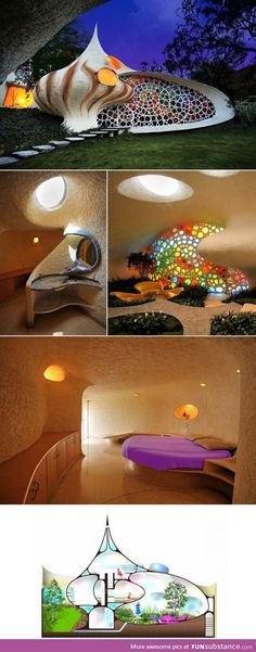 Nautilus House, Mexico City, Mexico would make a great crystal healing room - Trend Design Dekoration 2019 Architecture Design, Organic Architecture, Amazing Architecture, Pavilion Architecture, Residential Architecture, Contemporary Architecture, Landscape Architecture, Earthship Home, Shell House