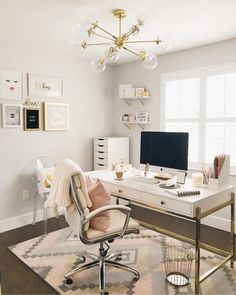 Home Interior White Home Organization Favorites.Home Interior White Home Organization Favorites Cozy Home Office, Home Office Space, Home Office Decor, At Home Office Ideas, Office Inspo, Small Office Decor, Modern Office Decor, Office Setup, Office Workspace