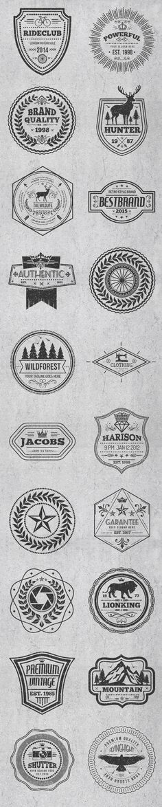 Vintage Style Badges and Logos Vector EPS, AI Illustrator. Download here: https://graphicriver.net/item/vintage-style-badges-and-logos-vol-5/17515039?ref=ksioks