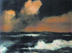 "Emil Nolde - ""Sea and light clouds"" (1935) ost 73 x 100 cm."