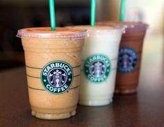 easy homemade frappuccino recipe with only 4 ingredients and 95 calories.