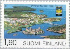 Sello: Savonlinna 1639-1989 (Finlandia) (350 Years City of Savonlinna) Mi:FI 1089,Yt:FI 1053,AFA:FI 1079