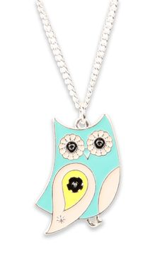 Pretty! #mint #owl #necklace