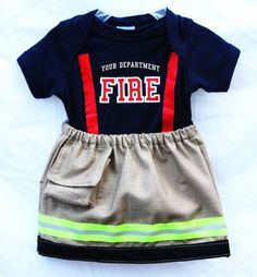 Toddler girl firefighter outfit.... To match her brother!