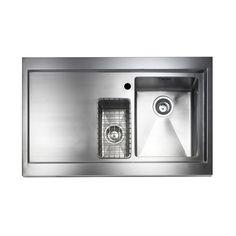 Astracast Bistro Stainless Steel Single & Half Bowl Left Hand Drainer Sink
