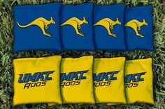 Cornhole All Weather Bag Set - University of Missouri Kansas City UMKC Kangaroos