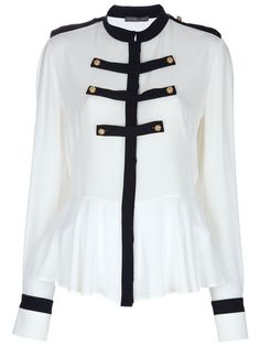 ALEXANDER MCQUEEN  MILITARY STYLE BLOUSE $649 #fashion #womensfashion