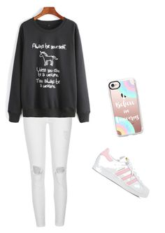 """Unicorns"" by gabisitton on Polyvore featuring Casetify, River Island and adidas"
