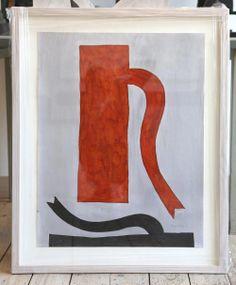 Klaas Gubbels  Oranje Kan Aquarel afmetingen: 80 x 65 cm.