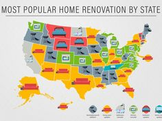 These Are the Most Popular Home Renovations in Each State, According to Google Data || Image Source: https://media.architecturaldigest.com/photos/5a1dec2b9877fe47b8ed821c/4:3/w_670/Most%2520Popular%2520Renovation%2520by%2520State.png