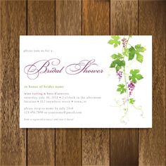 Hey, I found this really awesome Etsy listing at https://www.etsy.com/listing/78805001/wine-tasting-bridal-shower-invitation