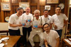Celebrating Chef Fukaya 's book, almost auto-biography.