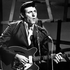 """Carl Perkins - Beatles' early days, GHarrison briefly billed himself Carl Harrison in honor of quick-picking hero. Perkins' bright, trebly style–the rockabilly king picked up from blues players in Tennessee–defined the singles he put out on Sun Records, influenced scores of players from Clapton to Fogerty. """"He took country picking into the rock world,"""" Tom Petty has said. """"If you want to play Fifties rock & roll, you can either play like Chuck Berry, or you can play like Carl Perkins."""""""