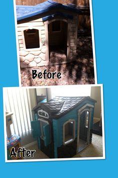 Little tykes play house - DIY redo :-)