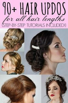 90 + Hair Updo's for all Hair Lengths with Tutorials!