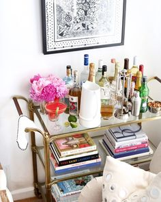 www.littlerugshop.com A little Memorial Day weekend entertaining inspo on withlovefromkat.com!  http://liketk.it/2os7r @liketoknow.it #liketkit #decor #WLFKhome #barcart #entertaining #cocktailhour by kattanita