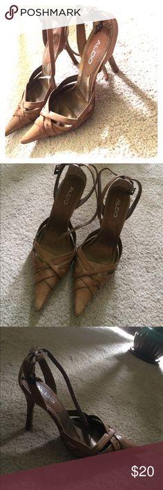 Aldo Heels Aldo Tan heels size 7.5 Aldo Shoes Heels