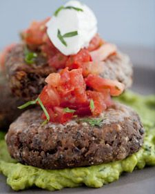 Really great black bean burgers. Delicious with sweet potato fries and margaritas-by-matt(still looking for the perfect recipe)