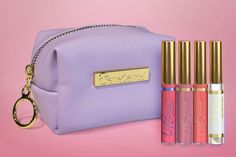 Limited Edition Posh Pastels LipSense Collections includes 2 NEW Lipcolors, 1 NEW Gloss, an Oops Remover and a leather lilac bag.  New colors include Pastel Pink & Peach Chiffon.  The NEW Pink Matte Gloss formula will WOW you!!  Grab the whole collection NOW before it sells out.