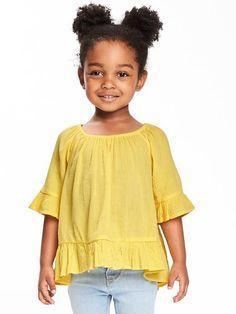 Off-the-Shoulder Swing Top for Toddler Girls