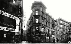 Oławska nr 67 róg Zaułka Winogronowego. Lata 1925-1930 Old Photographs, Prussia, Bratislava, Homeland, Germany, Lost, City, Places, Old Photos