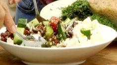Salade grecque et orzo - Recettes - À la di Stasio