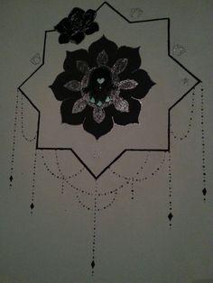 Eigen ontwerp muurschildering/mandala Tessa Saadan
