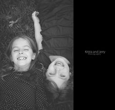 Silly time!  #KristaandJerryPhotography #Portrait #ChildPortrait #Sisters