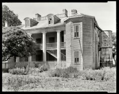 """St. John the Baptist Parish, Louisiana, 1938. """"Evergreen Plantation -- Wallace vicinity. Structure dates from 1835. Abandoned."""" The house is now fully restored and open for tours. by pamela"""