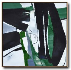 Dark Green Contemporary Painting #XB123A #acrylic-painting #Artists_Biao-Zheng #Biao-Zheng