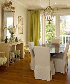 plain white room transformed, balanced and beautiful.