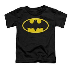 Trevco Batman Classic Logo Toddler T-Shirt - Black (2T) @ niftywarehouse.com