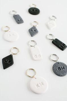 Monogram Clay Keychains DIY