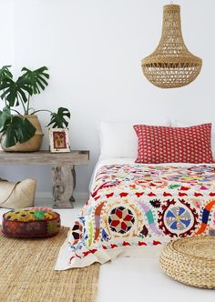 Image of Vintage Kantha Pillow Cover #C