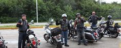 Found this group of Mexico City Harley Davidson riders when I stopped at the halfway point between Merida and Cancun for some cochinita tacos at Doña Tere's...