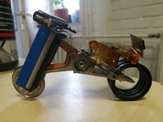Recycled hdd component motorcycle Recycled Art, Hdd, Can Opener, Recycling, Motorcycle, Recycle Art, Recyle, Biking, Repurpose