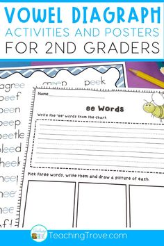 Ee and ea vowel digraphs are reinforced in this pack. Perfect for word work, it contains posters and 20 worksheets to help your students master the ee and ea spelling pattern. The worksheets are perfect to play in the classroom or send home for homework, distance learning or at home learning.