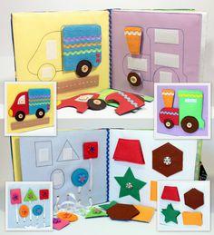 Calme livre actif en tissu est recommandé pour les enfants de 1 an. Il se compose de 7 feuilles. La fenêtre sur la couverture, on peut spécifier le nom
