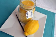 bees wax candle with essential oils.