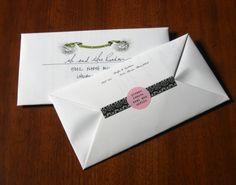 Fern pattern envelope fold