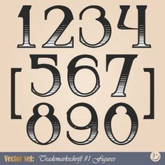 Russian alphabet with numbers vector 06