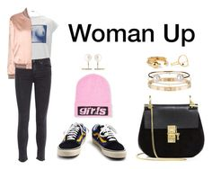 """""""Woman Up"""" by anaelle2 ❤ liked on Polyvore featuring Vans, Alexander Wang, Givenchy, Acne Studios, Chloé, Cartier, Yves Saint Laurent, Minor Obsessions, Letters By Zoe and Sarah & Sebastian"""