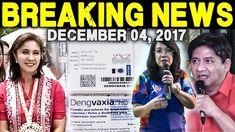 BREAKING NEWS TODAY DECEMBER 04 2017 LENI ROBREDO l DENGVAXIA l CJ SEREN...