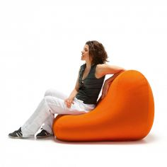 Chair Pouf. Comfortable and modern, flamboyant colours and reliable materials. Very nice, soft fabric.