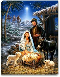 Remember the true meaning of Christmas with this beautiful puzzle. This gorgeous piece of artwork depicting the birth of Jesus and the coming of the 3 wise men is a truly awe-inspiring puzzle. Springbok Savior is Born Jigsaw Puzzle Christmas Nativity Scene, Christmas Scenes, Christmas Pictures, Christmas Crafts, Nativity Scenes, Nativity Scene Pictures, The Nativity, Merry Christmas Quotes, Cabin Christmas