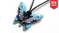 Papillon - Baby Blue Butterfly Necklace, Baby Blue, Favorite Color, Creations, Collection, Blue Butterfly, Art Crafts, Hand Made